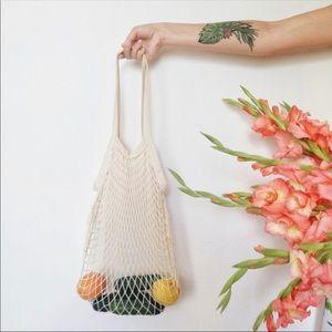 Handbags - NEW NET BAG IN IVORY MESH BAG